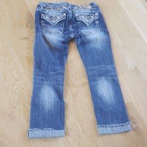 Miss Me jeans- size 30 - signature cropped